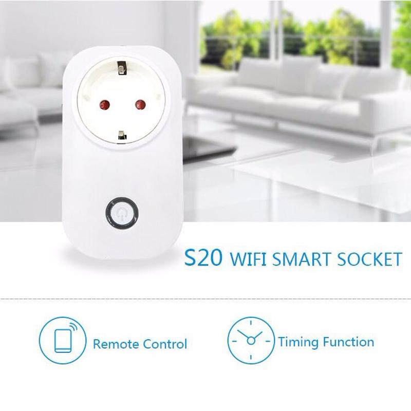 Gorący sprzedawanie Sonoff S20 Inteligentnego Domu Ładowania Adapter Bezprzewodowy Inteligentny Przełącznik BEZPRZEWODOWY Pilot Zdalnego Sterowania Gniazdo Zasilania UE/USA/UK Standard 3