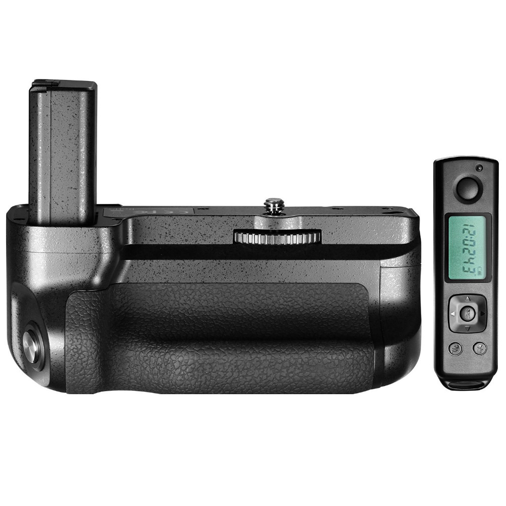 Neewer Meike Battery Grip for Sony A6300 Camera Built-in 2.4GHz Remote Control Work with 1 or 2 NP-FW50 Battery meike mk ar7 built in 2 4g wireless control battery grip for sony a7 a7r a7s