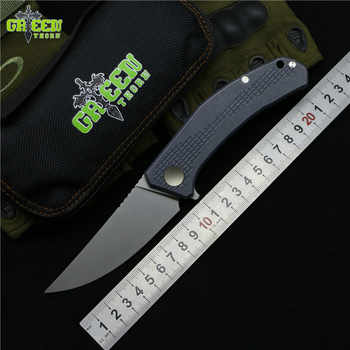 Green thorn JEANS Flipper folding knife m390 steel TC4 Titanium handle outdoor camping hunting pocket kitchen knives EDC tools - DISCOUNT ITEM  0% OFF All Category