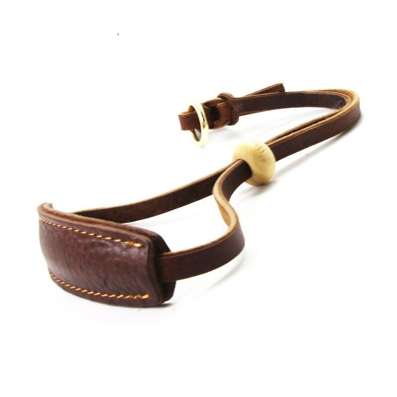 Leather Extra Wide Padded Dog Collar Adjustable Wooden Bead Pet Collar for Greyhound Saluki Deerhound Lurcher Whippet Dachshund