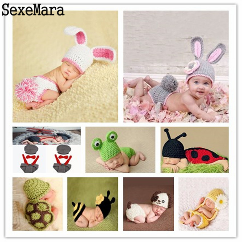 5054c945b Detail Feedback Questions about Newborn Baby Girl Boy Photography Props  Crochet Knit Costume Knitting Soft Hat Pants Set Baby Clothing Accessories  for 0 6 ...
