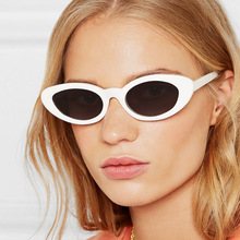 Cat Eye style Oval UV400 Sunglasses Women Vintage retro round Frame white mens Sun glasses red Hip Hop Clear