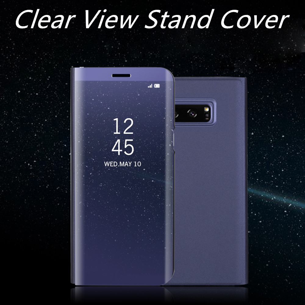 cheap for discount 0bafe 85178 US $4.59 8% OFF|Mirror Clear View flip Cover For Samsung Galaxy Note 8 Flip  Case For Samsung Note 8 view window flip gold stand cover cases -in Flip ...