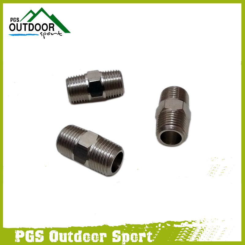 "Image 2 - Paintball Air Fitting 3pcs Hose Pipe Hex Nipple Fitting Double Male 1/8"" NPT Threads-in Paintball Accessories from Sports & Entertainment"
