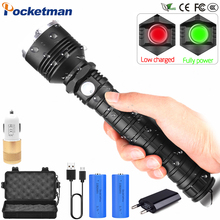 80000LM LED Tactical Flashlight XHP70.2 Most Powerful led torch USB Zoom 18650 26650 Rechargeable Best Camping Lamp light