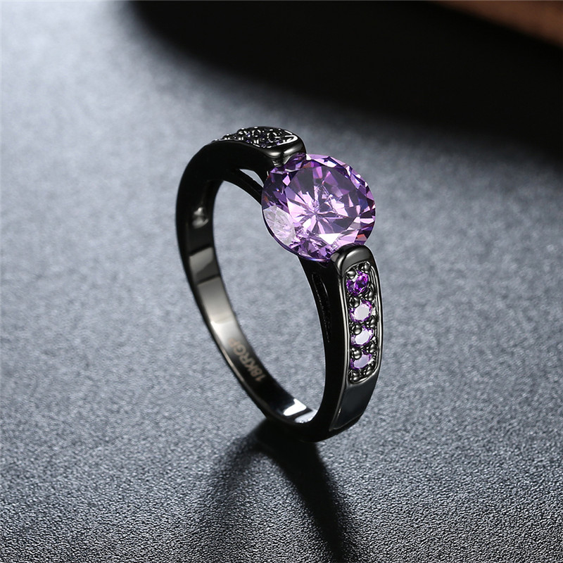 stone gold purple p wedding diamond solitaire ring engagement black rings classic product three violet