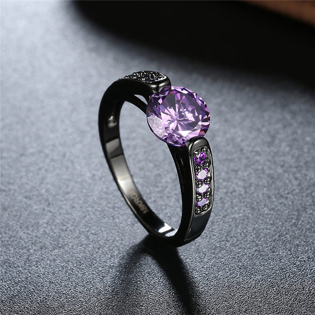 line Shop Fashion Jewelry Purple Stone February Birthstone Rings