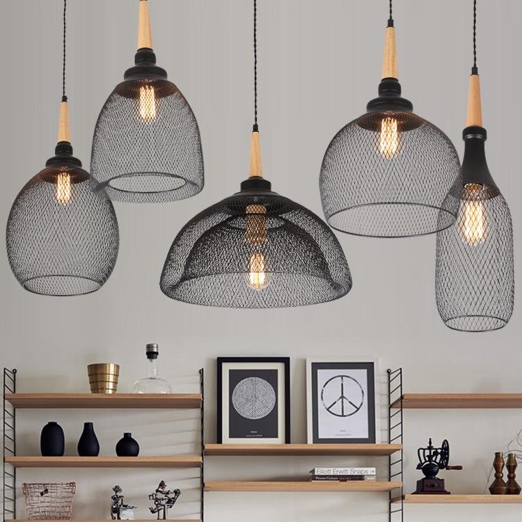 American Vintage Style Wrought Iron Net Loft Pendant Light Restaurant Light Bars Light Balcony Light Free Shipping american countryside industrial vintage loft wrought iron net water pipe wall lamp cafe bars balcony retro light free shipping