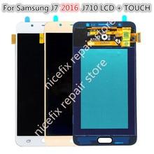 """5.5 """"Per SAMSUNG GALAXY J710 LCD J7 2016 J710F SM J710F J710FN Display Touch Digitale Dello Schermo di Ricambio Per SAMSUNG J710 LCD"""