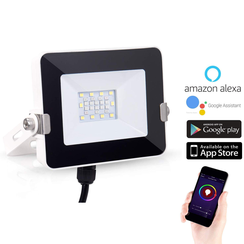 RGB Flood Light WiFi Smart Lighting LED Multicolor Waterproof(IP65) 10W Indoor/Outdoor Security Lights Spotlight Party Lighting