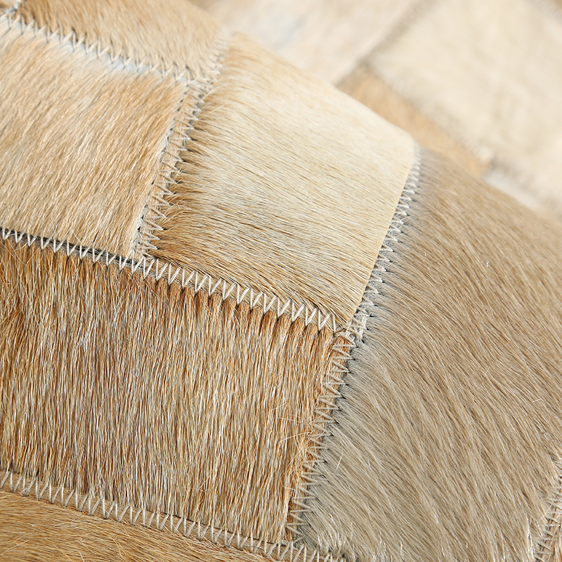 American style luxury cowhide seamed striped carpet natural cow skin fur carpet for living room decoration office carpet in Carpet from Home Garden
