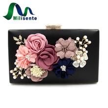 Milisente 7 Colors Women Clutch Bag Lady Flower Day Clutches Female Wedding Bags