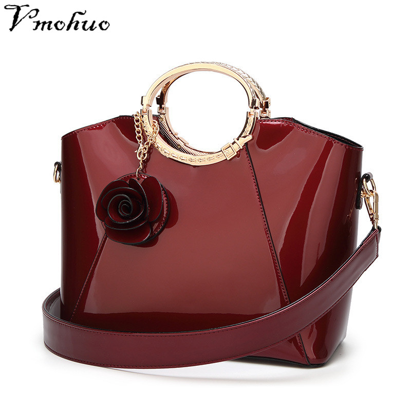 VMOHUO Patent Bags Handbags Women Famous Brands Ladies Lacquer Red Bag Japanned Leather Women's handbag Shoulder Bag sac a main kzni genuine leather bags for women leather handbags summer woman bag 2017 small handbag women famous brands sac femme 1412