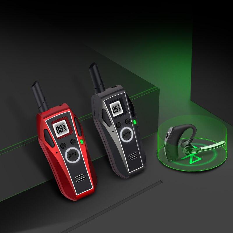 Портативная мини-рация KSUN V8 с Bluetooth, 3 Вт, PMR PMR446 FRS VOX, удобная двухсторонняя радиосвязь