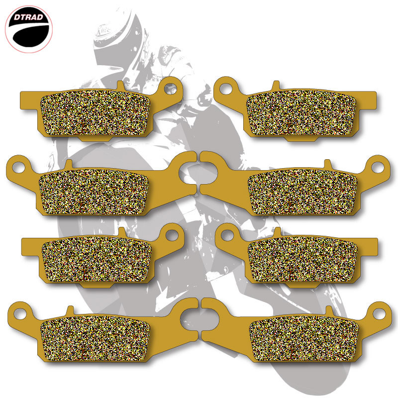 Motorcycle Brake Pads Front+Rear For YAMAHA ATV GRIZZLY 550 2009-2012 700 2007-2012 Ducks Unlimited Ed YFM 700 07-09Motorcycle Brake Pads Front+Rear For YAMAHA ATV GRIZZLY 550 2009-2012 700 2007-2012 Ducks Unlimited Ed YFM 700 07-09