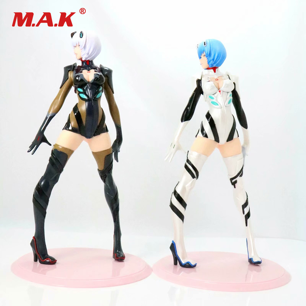 24cm Female PVC Cartoon Anime Figure NEON GENESIS EVANGELION Ayanami Rei White/Black Figure for Collection Gift with Box