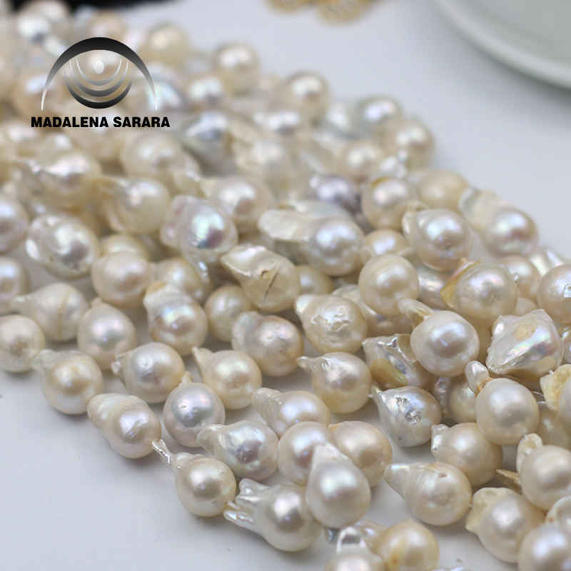 WADALENA SARARA 13mm AAA Freshwater Baroque Peanl Necklace Strand 18 For DIY Jewelry Making Near Baroque Irregular ShapeWADALENA SARARA 13mm AAA Freshwater Baroque Peanl Necklace Strand 18 For DIY Jewelry Making Near Baroque Irregular Shape