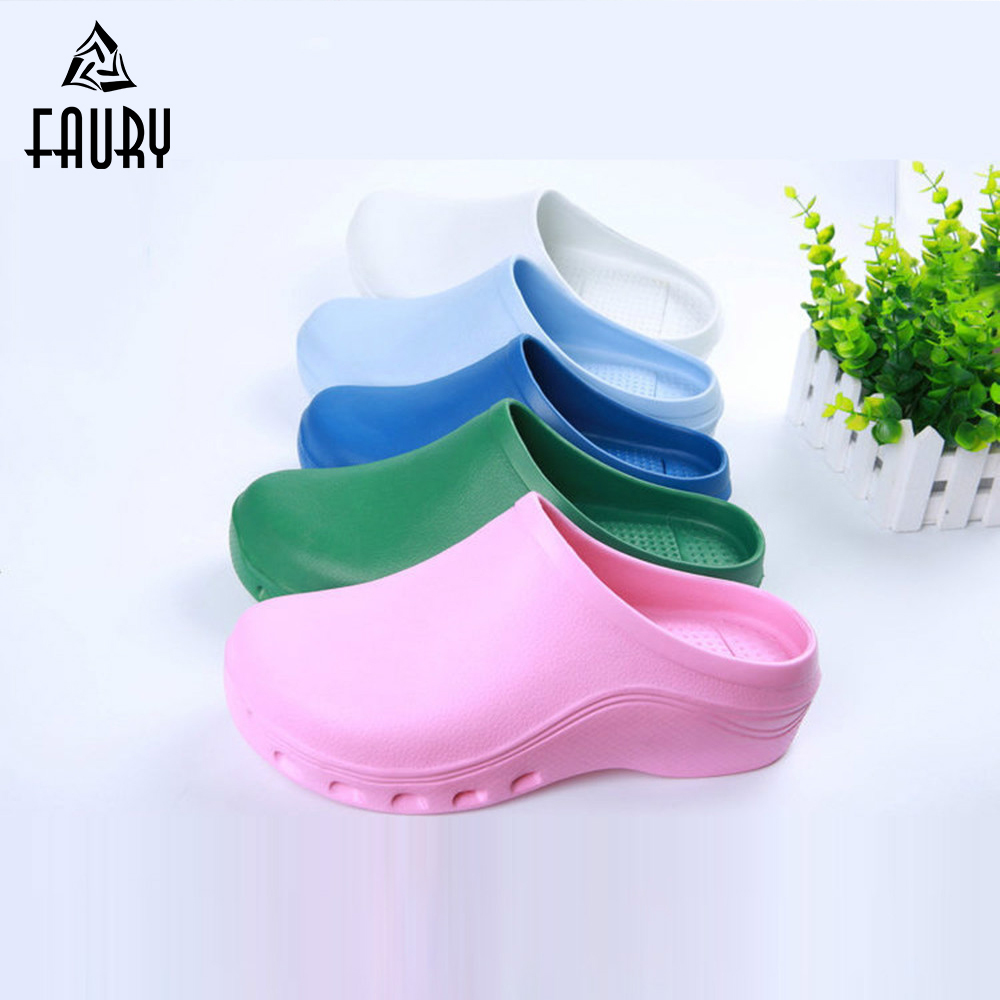 Medical Shoes Surgical Lab Unisex Doctor Nurse Anti-Slip Dental Hospital Cleaning Protective Workwear Slippers Implantable Chip