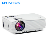 BYINTEK New Arrival Mini Home Theater Cinema Projector UC36 Portable Movie Video HDMI USB Proyector Beamer