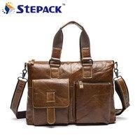 2016 High Quality Genuine Leather Men Bag Casual Men Hangbag Men Shoulder Bag Business Bag Male