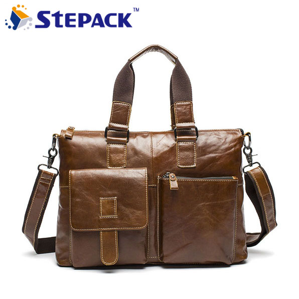 2016 High Quality Genuine Leather Men Bag Casual Men Handbag Men Shoulder Bag Business Bag Male Messenger Bag WMB0108