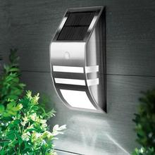 Wodoodporna IP65 światła słonecznego na zewnątrz ogród bezpieczeństwa Led zasilany energią słoneczną lampa panelowa ścianie Lampada czujnik ruchu PIR dekoracyjne tanie tanio KOOYUTA Bateria litowa 3 2 V Ze stali nierdzewnej Żarówki led Nowoczesne Brak Wakacje