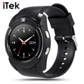New TK44 Full Screen Circular Sport Smart Watch For Android Match Smartphone Support TF SIM Card Bluetooth Smartwatch PK GT08