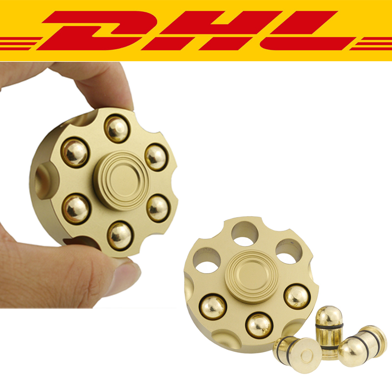 New 20Pcs/Lot Revolver Bullet Tri Finger Spinner Hand Spinner Adults Anti Stress Relief Toys Metal Bearing EDC Autism ADHD gift