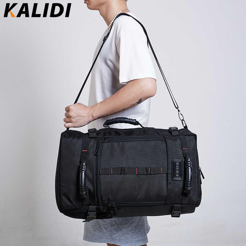 KALIDI marca elegante viaje mochilas de gran capacidad equipaje masculino bolsos de hombro ordenador portátil mochila hombres mochila funcional
