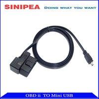 OBD II 2 Cable Diagnostic Cable Adaptor OBD Ii To Mini USB For HUD5 5 HUD