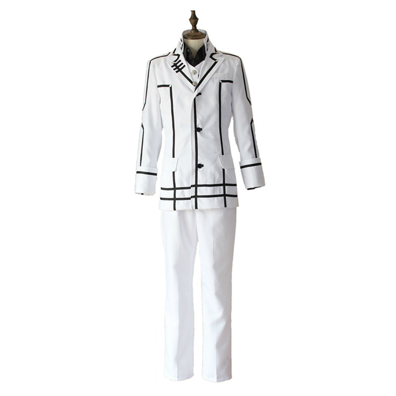 New Arrival Anime Vampire Knight cosplay costumes kuran kaname cosplay costumes white Male's uniform daily Performance costumes