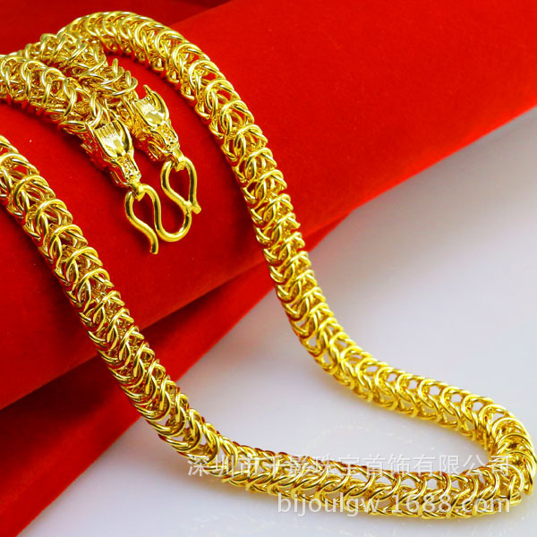 53 cm long 64 5 gram heavy chain 7 8MM Hollow curb chain