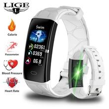 купить 2019 LIGE New IP68 Women Smart Bracelet Heart Rate Monitor Blood Pressure Smart Wristband Band Fitness Tracker Smart Watch Men онлайн