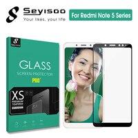 100% 오리지널 seyisoo 2.5d 0.3mm 9 h 풀 커버 스크린 프로텍터 강화 유리 xiaomi redmi note 5 xiomi redmi note 5 pro