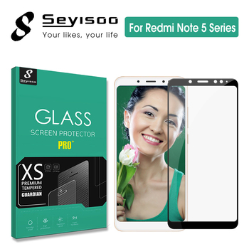 100% Original Seyisoo 2.5D 0.3mm 9H Full Cover Screen Protector Tempered Glass For Xiaomi Redmi Note 5 Xiomi Redmi Note 5 Pro