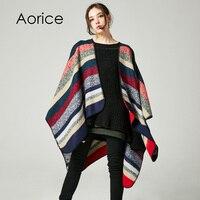 Aorice RS027 الجديد أزياء النساء الشالات المشارب على كلا الجانبين من الطين التقليد الكشمير سميكة عباءة يرتدي طويلة عباءة الرأس