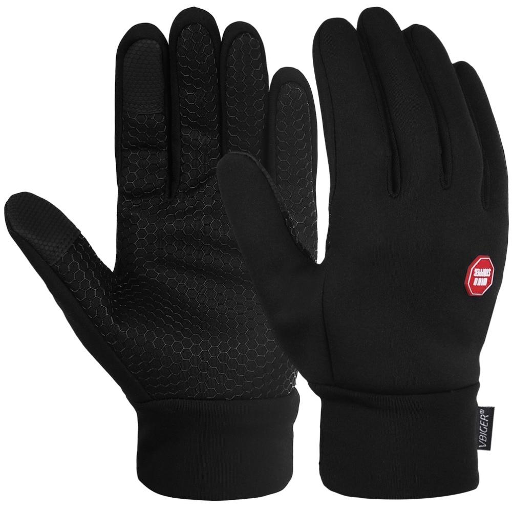 Vbiger Black Winter Warm Gloves Windproof Cold Weather