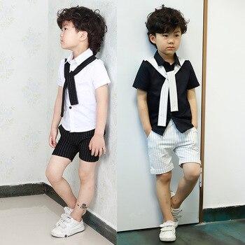 1f8032e1814 Детская одежда новые три Лето 3 мальчиков четыре-пять костюм 4 рубашка +  Шорты 5