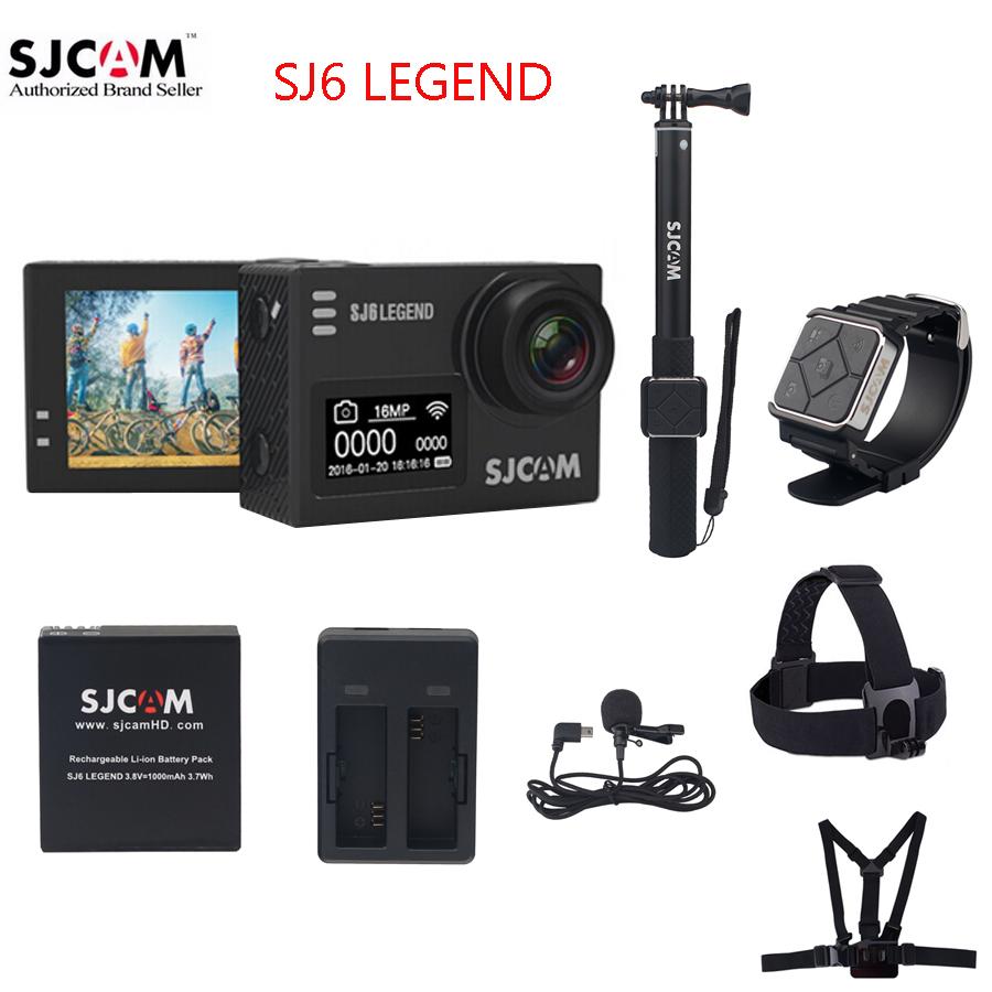 """Prix pour 100% D'origine SJCAM SJ6 LÉGENDE 4 K 24fps 2.0 """"Écran tactile À Distance Ultra HD Notavek 96660 30 M Étanche Action Sports Caméra DVR"""