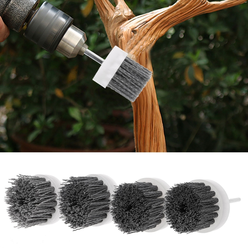 Deburring Abrasive Steel Wire Brush Head Polishing Nylon Wheel Cup Shank For Furniture Wood Sculpture Rotary Drill Grinding Tool цена 2017