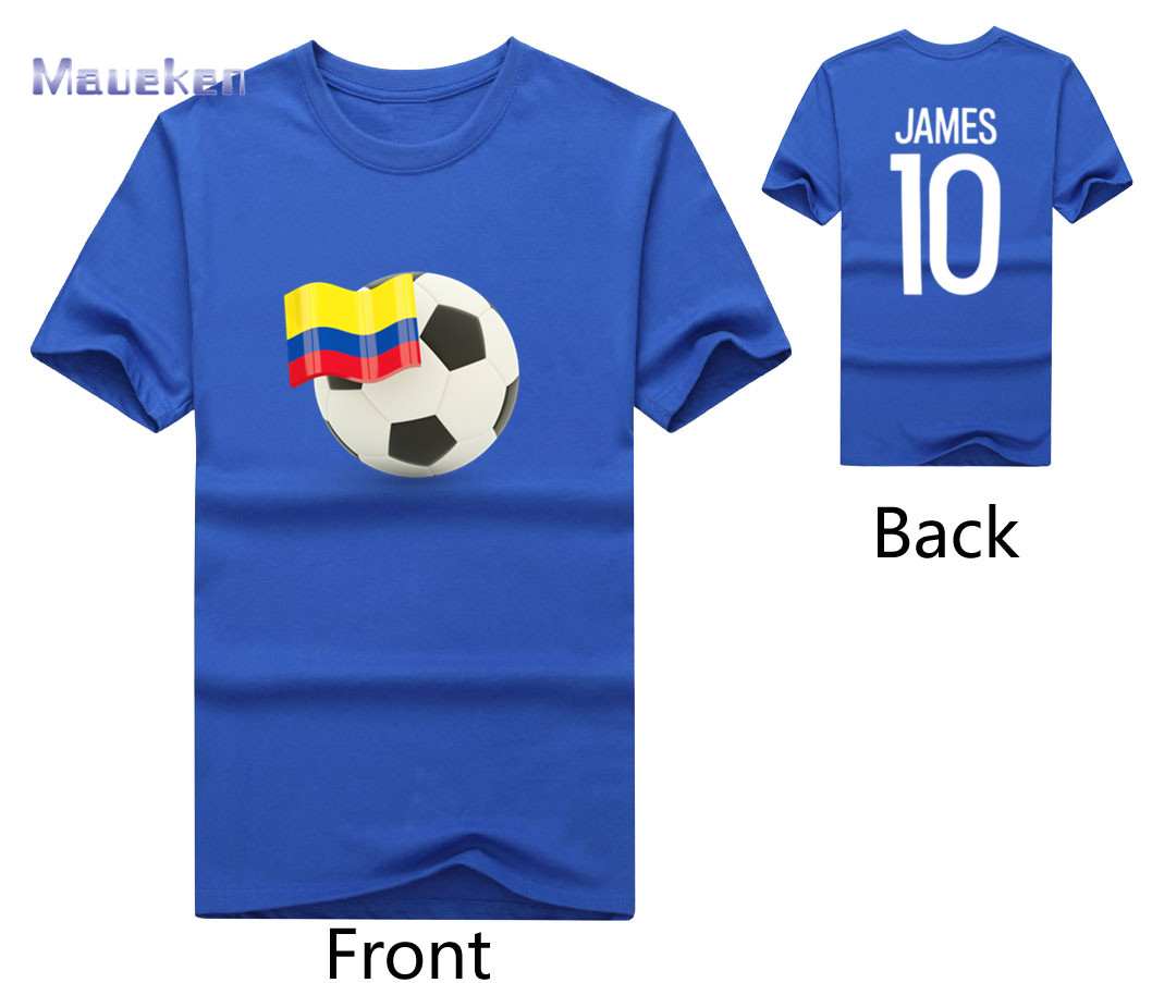 size 40 2b41b 704aa US $18.39 8% OFF|2018 flag of Colombia with 10 James Rodriguez T Shirt Men  Short Sleeve 100% cotton O Neck T shirts for fans gift-in T-Shirts from ...