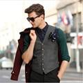 Inglaterra Homens de Negócio Terno Colete Homens Casuais Jaquetas Colete Maré colete Outono E Inverno Coreano Versão Do Magro Colete Mv91055