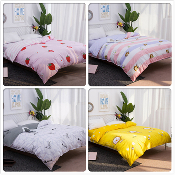 Big Size Double Super King Queen Twin Full Single Duvet Cover 1pcs Quilt Comforter Case Soft Cotton Bedding Bag 150x200 180x220