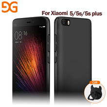 GUSGU Phone Case Mobile Phone Back Cover Ring Stand Shell FOR Xiaomi 5 Mi 5s Xiaomi 5 plus Matte Phone Cover(China)