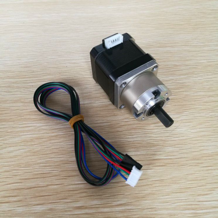 Free shipping 4-lead Nema17 Stepper Motor 42 motor Extruder Gear Stepper Motor Ratio Planetary Gearbox Nema 17 Step Motor for 3DFree shipping 4-lead Nema17 Stepper Motor 42 motor Extruder Gear Stepper Motor Ratio Planetary Gearbox Nema 17 Step Motor for 3D