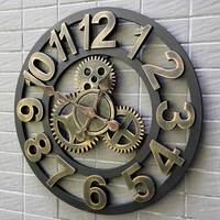40/45/50cm 3D Wall Clock Large/Wooden/Vintage Wall Clocks Silent/Antique Big Wall Watches Home Decor For Living Room