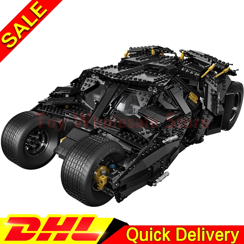 LEPIN 07060 Building Blocks Super Heroes Batman Chariot The Tumbler Batmobile Batwing Joker Mini Bricks Clone 76023