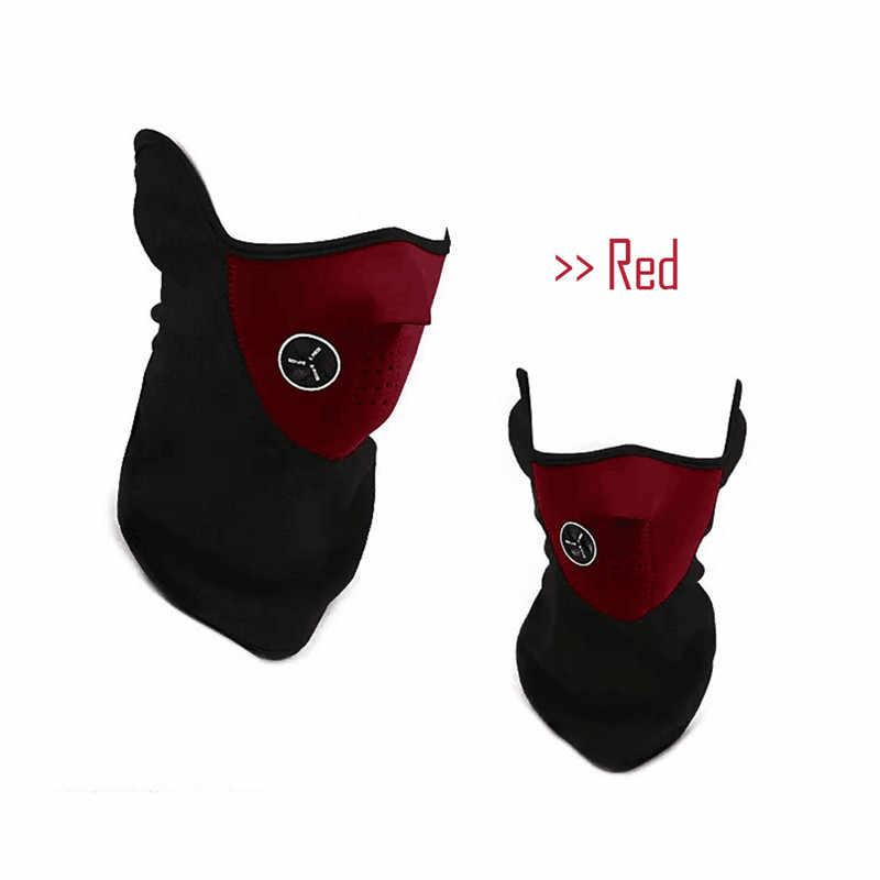 Hadiah Natal Perjalanan 1 PC Unisex Tactica Masker Neoprene Pengendara Sepeda Motor Anti Debu Setengah Wajah Topeng Filter Hangat Musim Dingin masker Ski