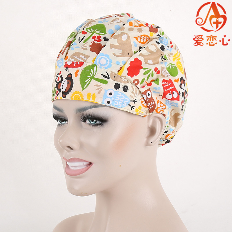 Ai Lianxin Surgical bouffant caps one size adjustable animal forest ALX-192 ai lianxin surgical bouffant caps one size adjustable animal forest alx 192