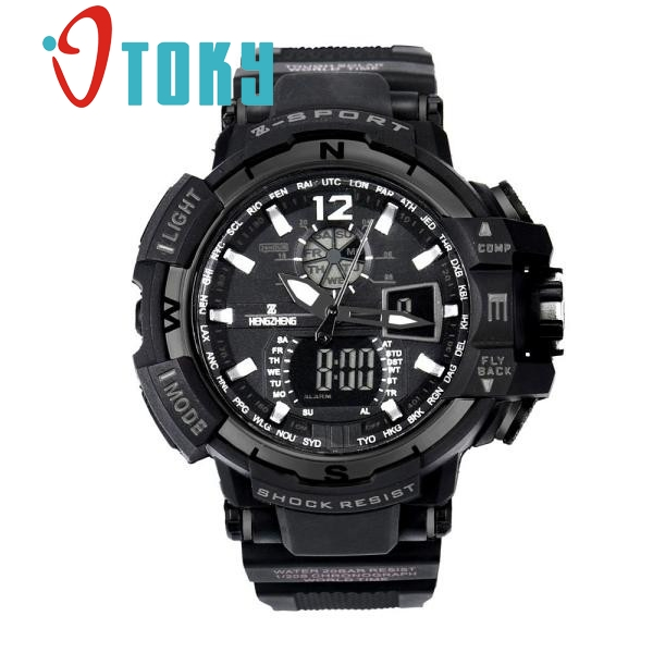 OTOKY watch Men Rubber LED Digital Sports Waterproof Quartz Wrist Watch Dual Display watches relojes hombre